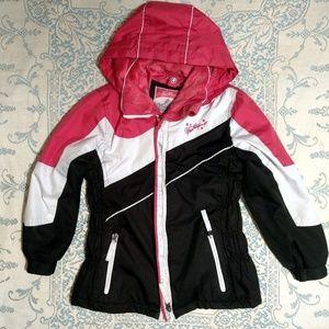 Weatherproof Girls Pink Ski Jacket Size M (10/12)
